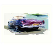 Classic Cadillac Convertable Art Print