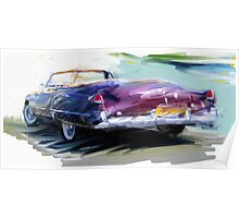 Classic Cadillac Convertable Poster