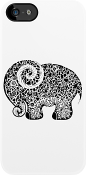 Elephant Doodle by Jakki O