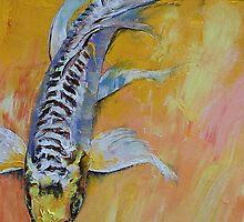 Yellow Dragon Koi by Michael Creese
