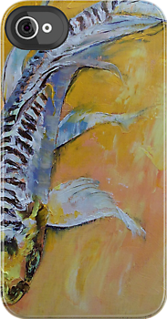 Yellow Dragon Koi by Michael Creese