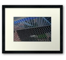 Glass panes in the Library Framed Print