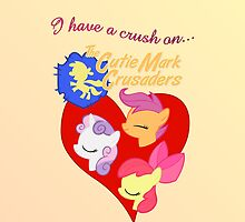 I have a crush on... the Cutie Mark Crusaders by Stinkehund