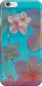 Frangipani Summer Iphone Case by Cate Townsend