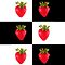Strawberries (on checkered white &amp; black) Cover For the Apple iPhone  by Bryan Freeman