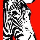Red Zebra - iPhone Case by BlueShift