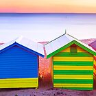 Brighton Beach Huts, Victoria by Christopher Ashdown