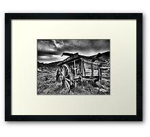 goldrush shadows Framed Print