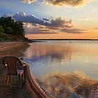 Have A Seat..Sunset at Eufaula Oklahoma by Carolyn  Fletcher