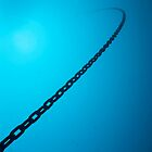 Chain in sea, underwater view by Sami Sarkis