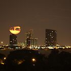 Setting Moon Over Miami by Rene  Triay