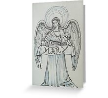 Angel with Holy Name of Mary Greeting Card