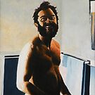 Morning Shave - 1980 - oil on canvas - 18&quot; x 26&quot; by Dave Martsolf