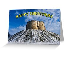 Christmas card: Clifford's Tower, York Greeting Card