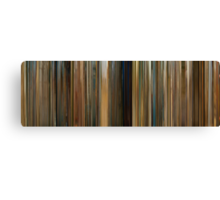 Moviebarcode: The Darjeeling Limited (2007) Canvas Print