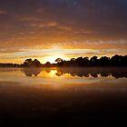 Lake Burley Griffin Sunrise by Brett Norman
