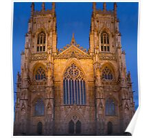 York Minster, England, at sunset Poster