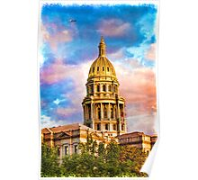 State Capitol at Sunset, Denver Colorado  Poster