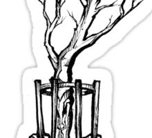 caged tree Sticker
