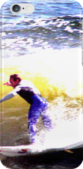 Surfer iPhone case2 by andytechie