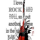 I Love Rock and Roll iPhone Case by AmbientKreation