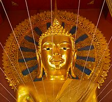 Buddha image, Wat Phra Sing, Chiang Mai, Thailand by John Spies