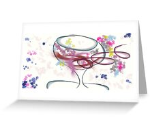Wine Bubbles Greeting Card