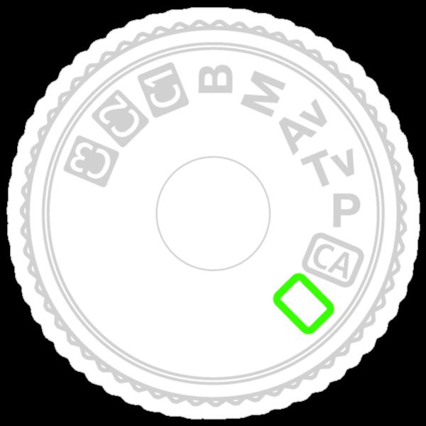 Camera Mode Dial Silver Green by vincef71