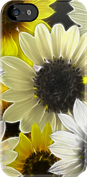 Just Sunflowers 2- I Phone Case by Diane Johnson-Mosley