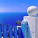 Greek blue gate - iPhone case by Silvia Ganora