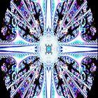 Stained Glass Cross iPhone by judygal