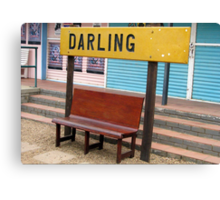 Darling...a world away! Canvas Print