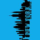 New York - The Big Apple iPhone - Blue - (iPhone) by Adam Angold