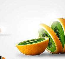 Kiwange / kiwi and orange by IanVicknair