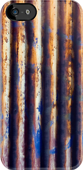 Corrugated Iron Vertical by Mark Higgins