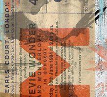 stevie wonder vintage ticket by vinpez