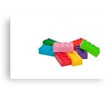 Plastic toys, building blocks. Canvas Print
