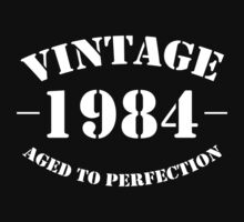 Vintage 1984 birthday  by personalized