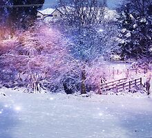 Magical Snow Scene  by Brenda Anderson