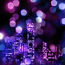 City lights iPhone Case by Subhrajit Datta