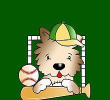 Baseball Doggie by Rainy