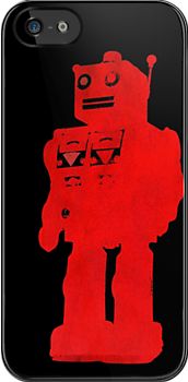 bright red robot by Emma Harckham