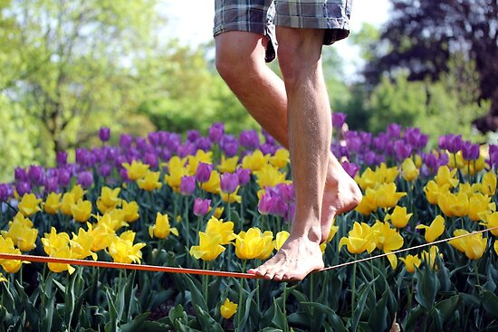 Flower Slacklining by Teka77