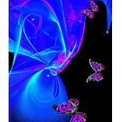 Visions Of Blue (iPhone Case) by judygal