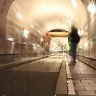 "german ""elbtunnel"" in hamburg by Teka77"