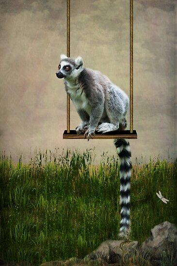 The Lemur Swing by Lissywitch