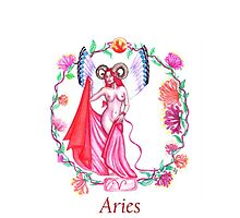 Aries ~ The Ram iPhone Case by Sandra Gale