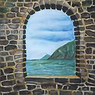 Oil Painting - A Window at Grotta di Byron. 2011 by Igor Pozdnyakov