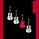Red guitar iPhone by Jayson Gaskell