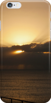 Golden rays - iPhone case by Odille Esmonde-Morgan